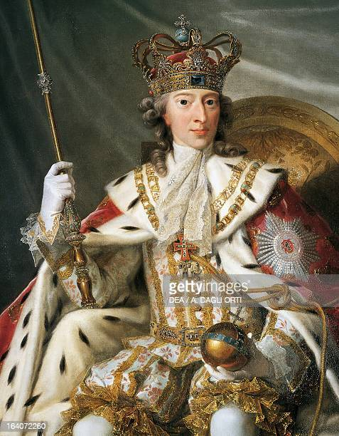 Portrait of Christian VII of Denmark King of Denmark and Norway oil on canvas Detail Copenhagen Rosenborg Slot Danske Kongers Kronologiske Samling