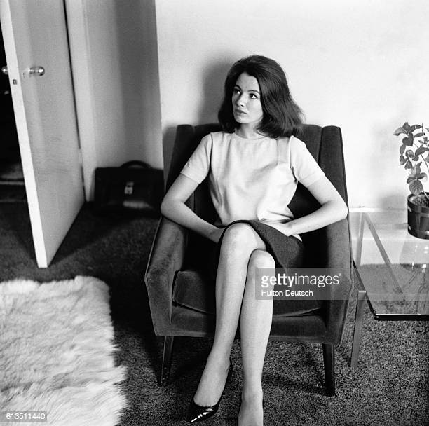 A portrait of Christine Keeler a former model and showgirl who was jailed for her involvement in a political scandal with John Profumo the...