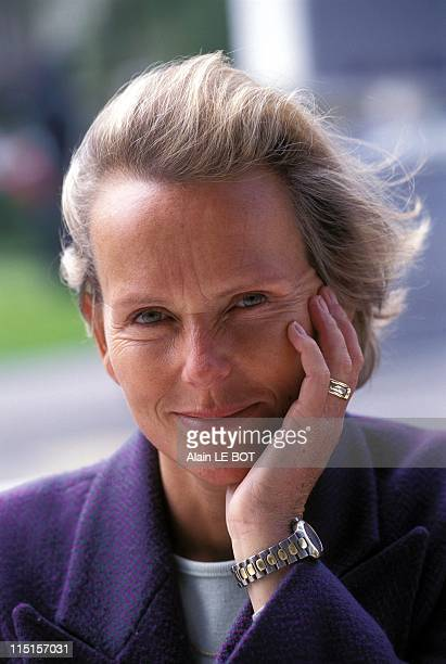 portrait of Christine Ockrent in Nantes France on May 13 1997