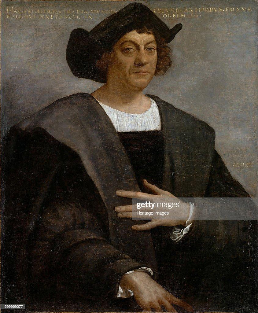 Portrait of Christopher Columbus, 1519 : News Photo