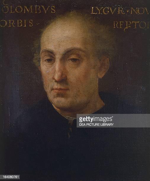 Portrait of Christopher Columbus Italian explorer and navigator Oil on canvas 15001525 Como Pinacoteca In Palazzo Volpi