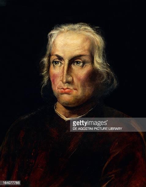 Portrait of Christopher Columbus Italian navigator and explorer Seville Archivo General De Indias