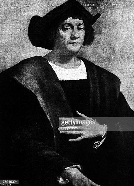 A portrait of Christopher Columbus the Italian navigator and explorer in the service of Spain who discovered the New World in 1492