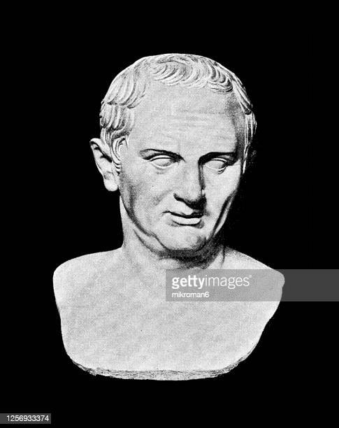portrait of cicero, roman statesman, lawyer and academic skeptic philosopher - philosophy stock pictures, royalty-free photos & images