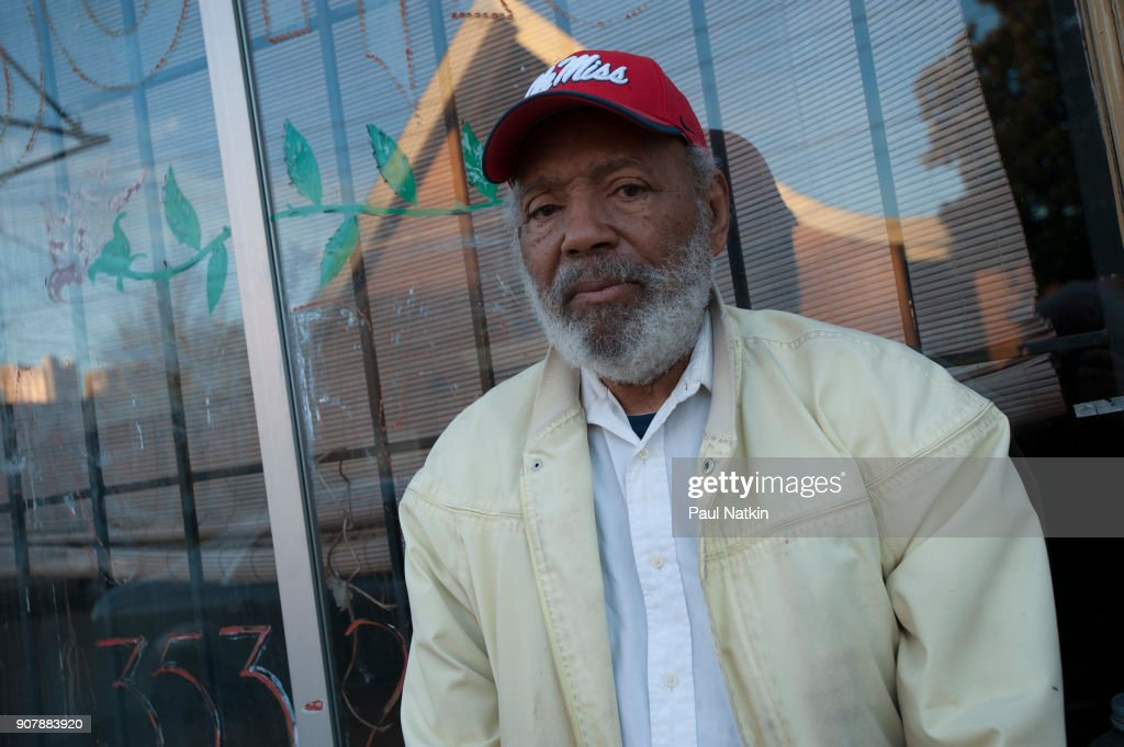 Portrait of civil rights activist James Meredith wearing an 'Ole Miss' baseball hat, Jackson, Mississippi, January 12, 2014. In October of 1962, he was the first African American student admitted to the segregated University of Mississippi.