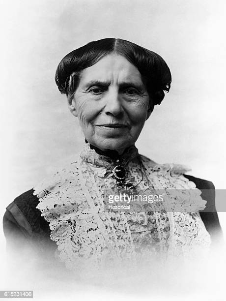 Portrait of Clara Barton a schoolteacher who founded the American Red Cross