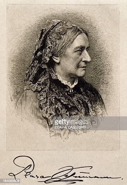 Portrait of Clara Schumann , wife of Robert Schumann . Vienna, Historisches Museum Der Stadt Wien