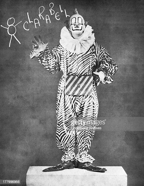 A portrait of Clarabell the Clown the mute partner of Howdy Doody of the popular children's NBC television show 'The Howdy Doody Show' New York New...
