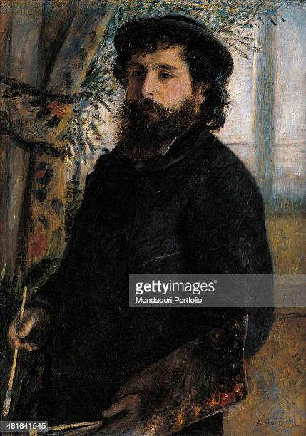 Portrait of Claude Monet by PierreAuguste Renoir 19th Century oil on canvas France Paris Musée d'Orsay Whole artwork view Portrait of the painter in...