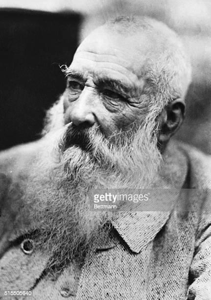 Portrait of Claude Monet famous French expressionist painter Undated photograph