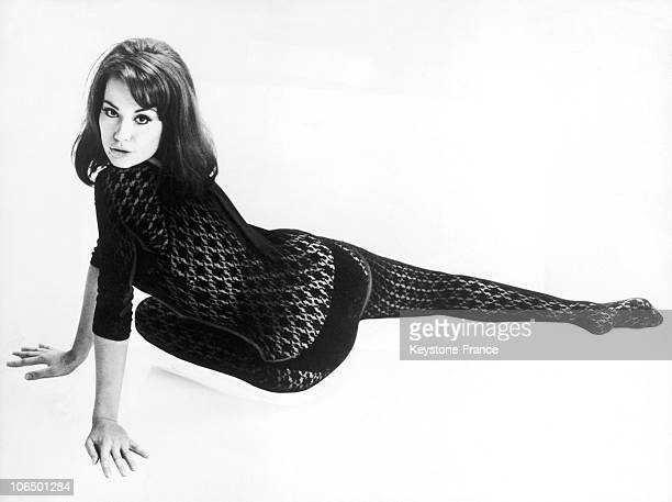 Portrait Of Claudine Auger On February 18Th 1965 Before Her Role As James Bond Girl With Sean Connery