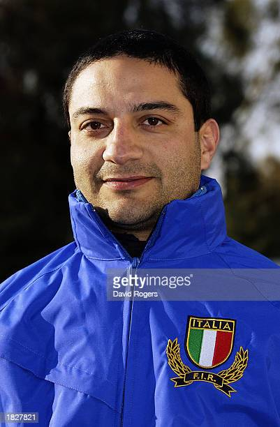 Portrait of Claudio Fossati of the Italian Rugby Union team at the photocall held on February 18 2003 in Rome Italy