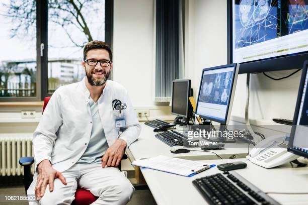 portrait of clinical technician - handsome doctors stock pictures, royalty-free photos & images
