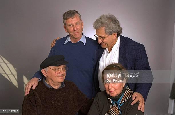 Portrait of, clockwise from top left, Israeli authors Amos Oz, Abraham B Yehoshua, Amalia Kahana-Carmon, and Aharon Appelfeld, Bnei Brak, Israel,...