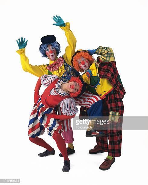Portrait of Clown Gesturing, Front View