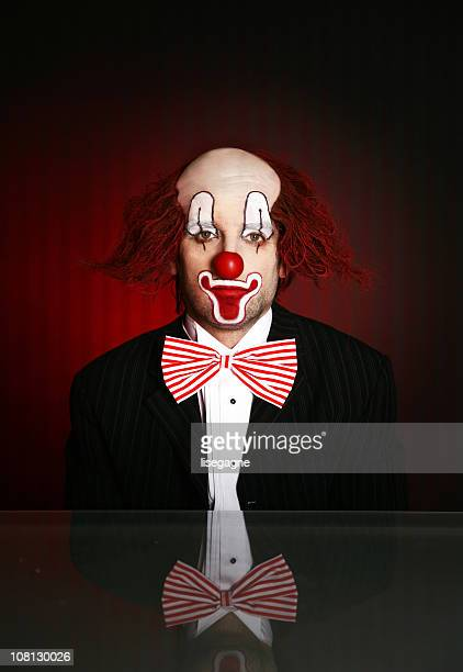 portrait of clown - sad clown stock photos and pictures
