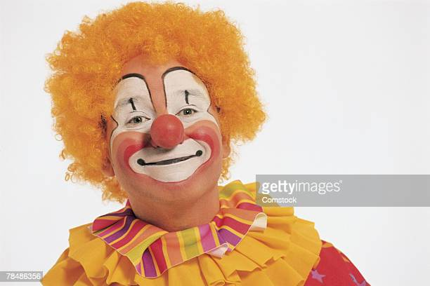 portrait of clown - happy clown faces stock photos and pictures