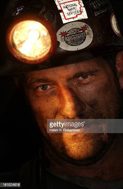 Portrait of coal miner Rick Long who seems to be the epitome of a coal miner He works for the Deserado Coal Mine and loves his work