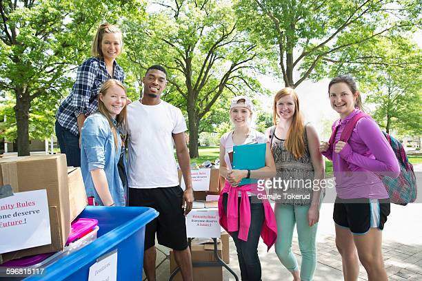 portrait of college friends - adults only stock pictures, royalty-free photos & images