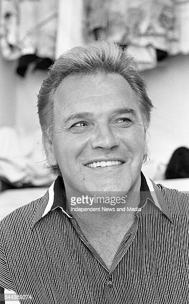 Portrait of comedian Freddie Starr as he poses in his dressing room at the Olympia Theatre Dublin Ireland June 1993