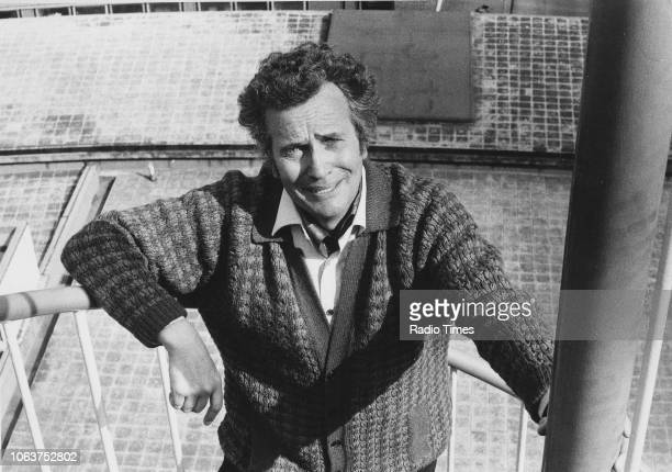 Portrait of comedian Michael Bentine on the rooftop of BBC Television Centre photographed for Radio Times in connection with his halfhour comedy...