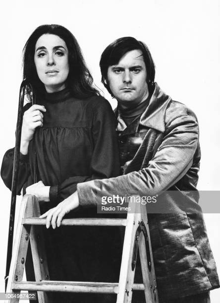 Portrait of comic actors Eleanor Bron and John Fortune circa circa 1972
