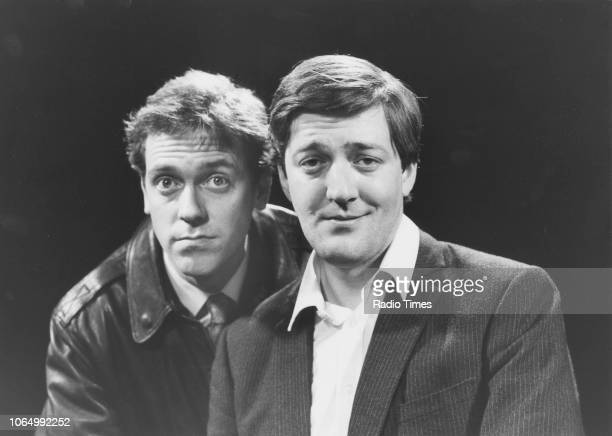 Portrait of comic actors Stephen Fry and Hugh Laurie, December 17th 1988.
