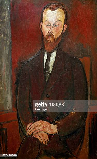 Portrait of Comte Wielhorski by Amedeo Modigliani 1916 - 114 x 72 cm. Private collection