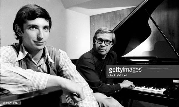 Portrait of conductor, composer, and musician Michael Tilson Thomas and musician Charles Wadsworth , August 1971.
