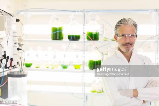 Portrait of confident botanist in laboratory