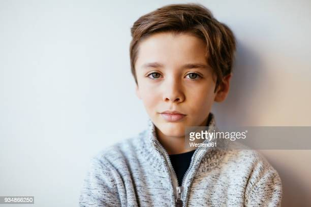 Portrait of confident brunette boy