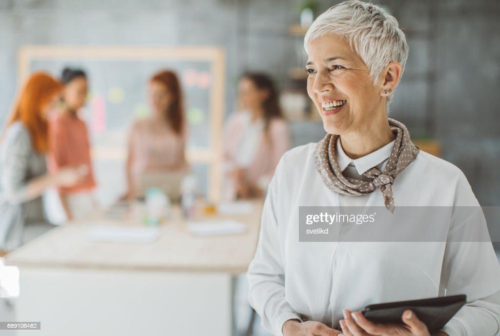 Portrait of confident business woman : Stock Photo