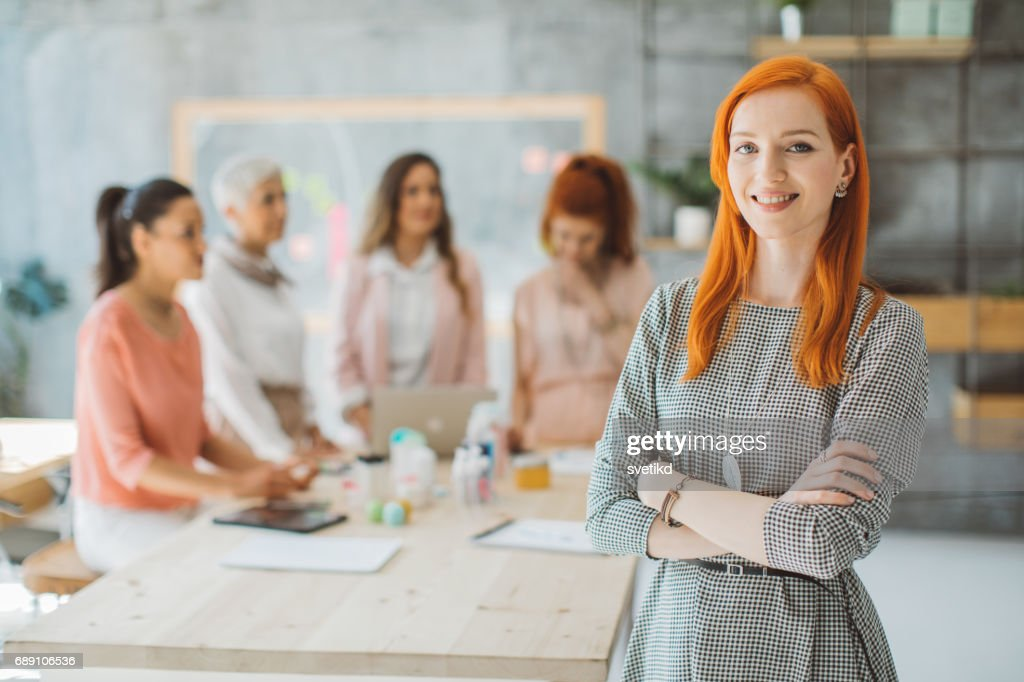 Portrait of confident business woman : Stock Photo