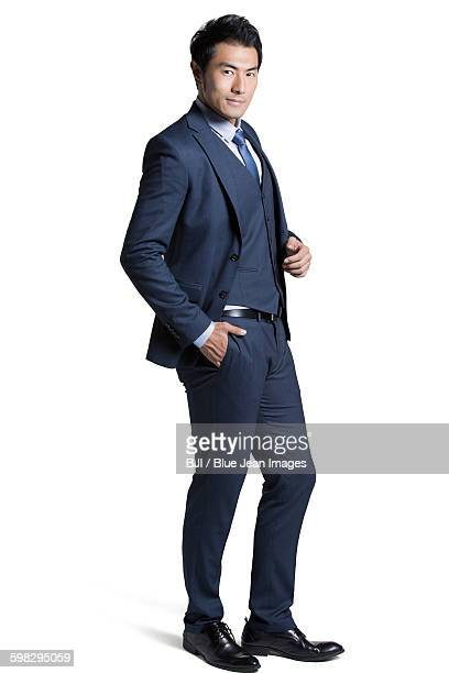 portrait of confident businessman - handsome chinese men stock pictures, royalty-free photos & images