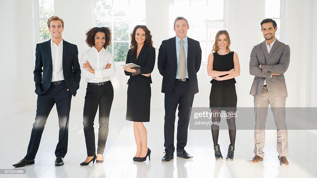 Retrato de confianza en los empresarios : Foto de stock