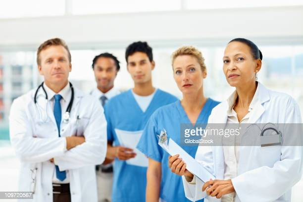 Portrait of confident doctors standing together