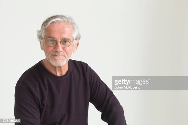Portrait of confident older Caucasian man