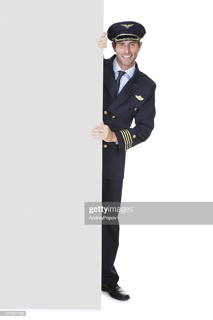 Portrait of confident pilot : Stockfoto