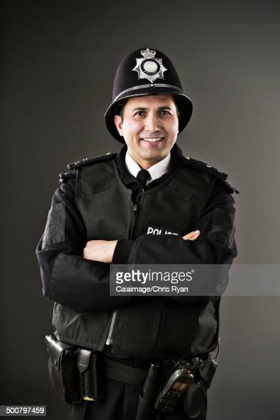 Portrait of confident policeman