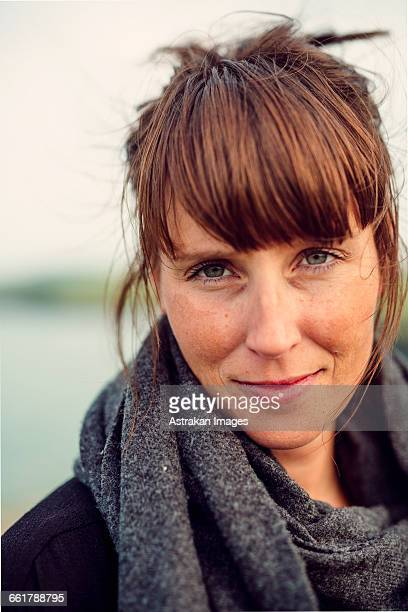 Portrait of confident woman at beach