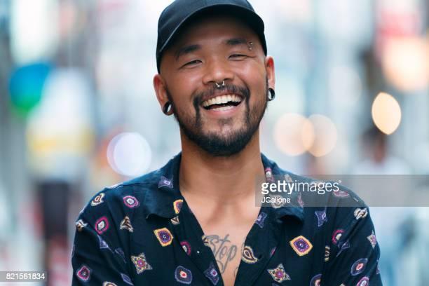 Portrait of confident young asian man