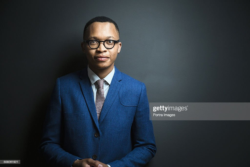 Portrait of confident young businessman : Stock Photo