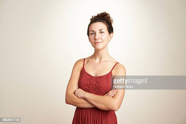 portrait of confident young woman - part of a series stock pictures, royalty-free photos & images