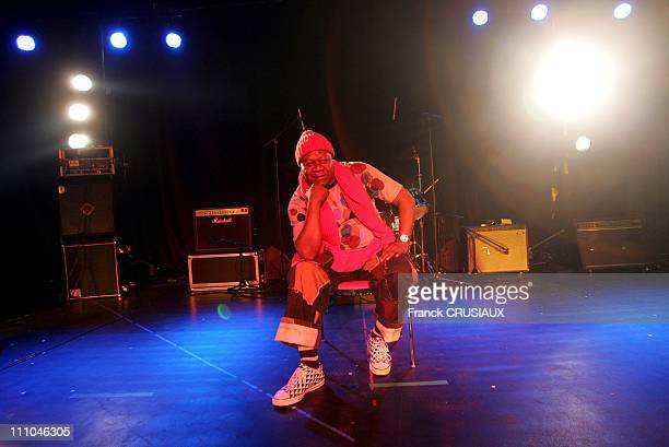 Portrait of Congolese singer Papa Wemba in Ronchin France on October 30 2004 Ronchin