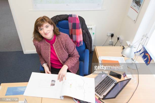 >> on February 1st 2019 in Loughborough England LOUGHBOROUGHENGLAND FEBRUARY 1 Portrait of Conservative MP Nicky Morgan in her constituency office>>...