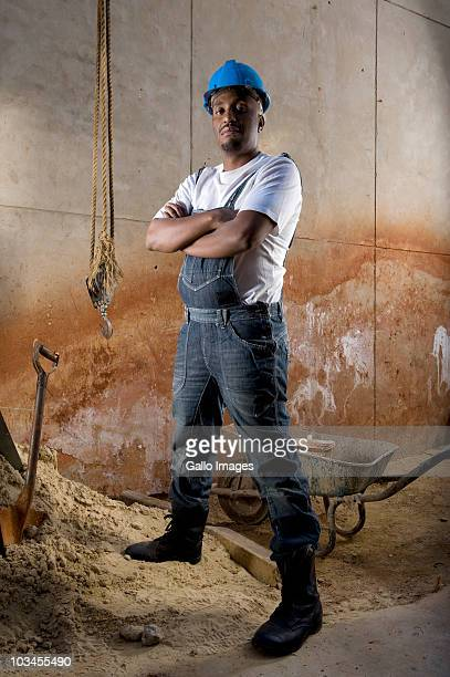 Portrait of construction worker,  Johannesburg, South Africa