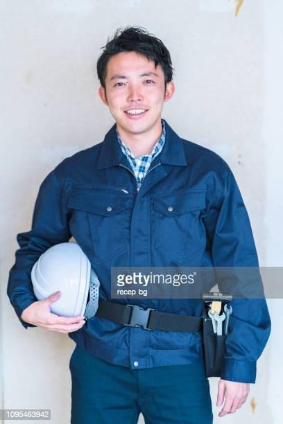 建設労働者の肖像 - 男 ストックフォトと画像