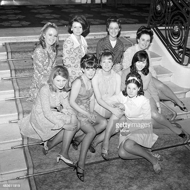 Portrait of contestants in the Miss Greyhound competition including Glenis Parratt Sandra Kelly and Stella Hickie 19th May 1968