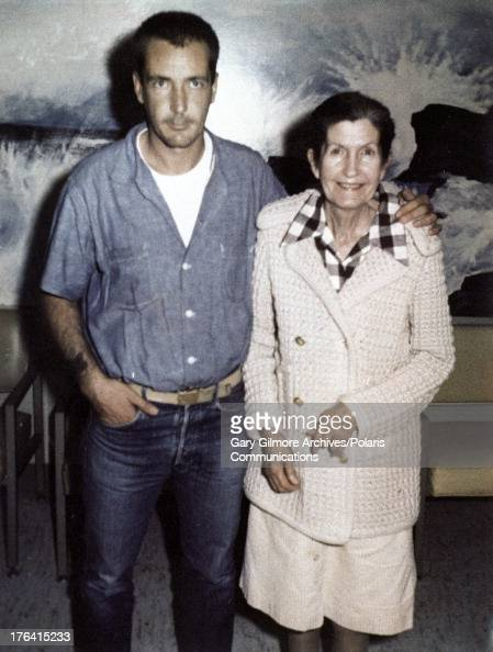 Portrait of convicted felon Gary Gilmore and his mother