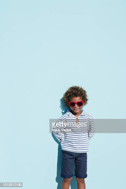 portrait of cool boy with sunglasses - shorts stock pictures, royalty-free photos & images